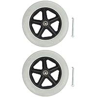 2 ruedas de repuesto para silla de ruedas delanteras Cuticate, duraderas, resistentes al desgaste