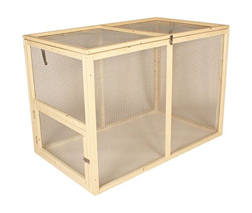Rabbit Run in legno Guniea maiale Ferret Shelter mesh Pet Hutch box Enclosure