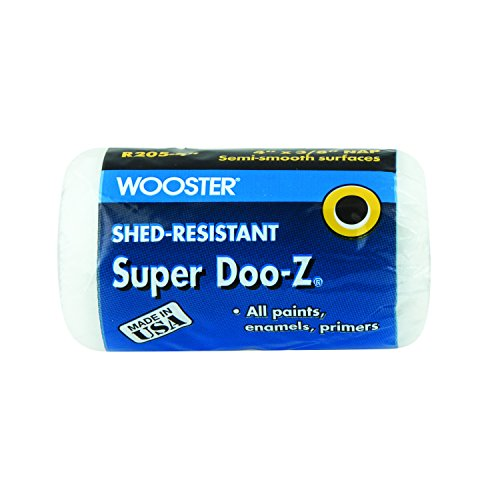 Wooster Pinsel Super doo-z Roller Cover 3/8Zoll Nap, weiß, 4 Inch -
