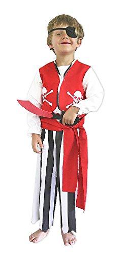 Pirat Kostüm Kinder Braveheart Rot Gr. (Kinder Kostüm Braveheart)