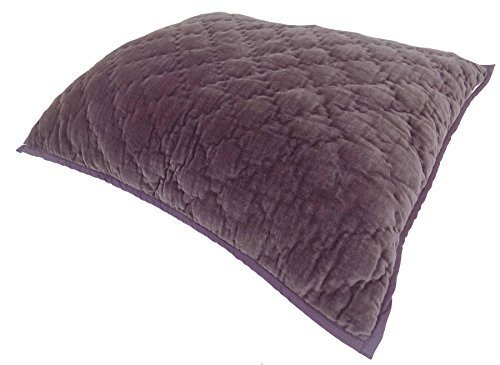 Gefülltes Luxuriöses Pflaume Gepolsterte Gesteppte Baumwolle Samt Dick Kissen 55,9cm-55cm
