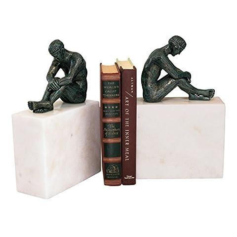 Design Toscano Contemplation of Man Sculpture - Set of 2