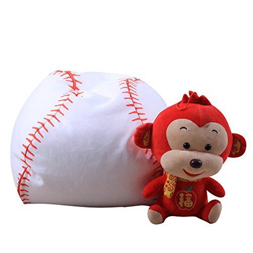 ele ELEOPTION Kinder Sitzsack 16 Zoll Stofftier Aufbewahrungtasche Riesensitzsack Sitzkissen Sessel für Kinder und Erwachsene Bett Möbel Bean Bag (Baseball Stil) (Bean-bag-baseball)