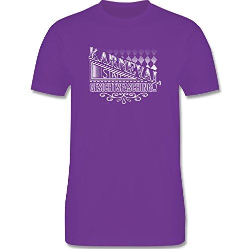 Karneval & Fasching - Karneval statt Gesichtsfasching - Herren Premium T-Shirt Lila