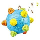Ballon sautant, Bébé Jouets éducatifs avec des lumières LED clignotantes et 2 types de mode de battement pour les nouveau-nés 1-2-3 ans Enfants garçons et filles