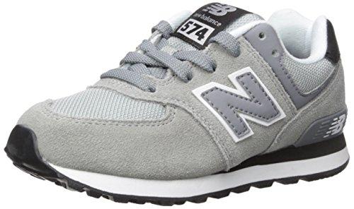 New Balance KL574V1 Pre Core Plus Fashion Sneaker (Little Kid), Grey/Black, 1 M US Little Kid Grey/Black