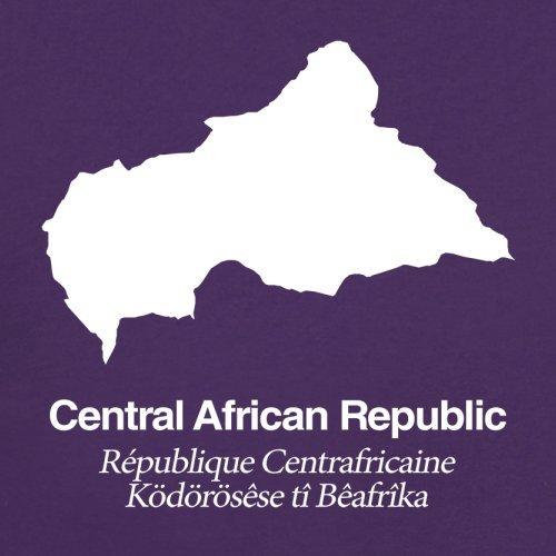 Central African Republic / Zentralafrikanische Republik Silhouette - Herren T-Shirt - 13 Farben Lila