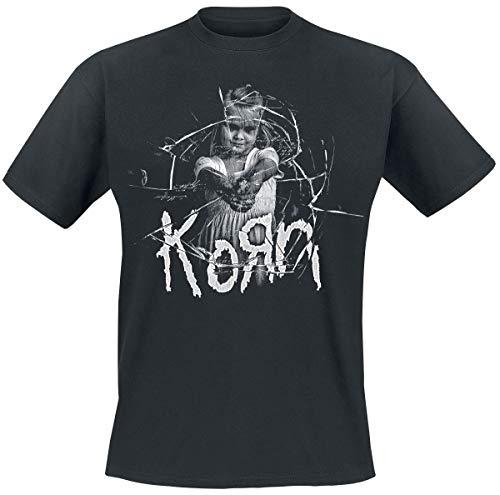 Korn Cracked Glass T-Shirt schwarz S -