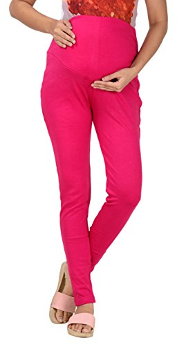 Women's Leggings For Pregnancy (Size- XL, Color- Dark Pink)