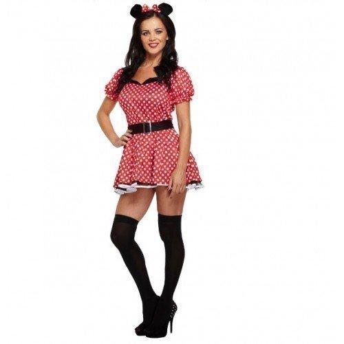 innie Mouse Party Fasching - Rot, EU 38-42 (Sexy Minnie Kostüme)