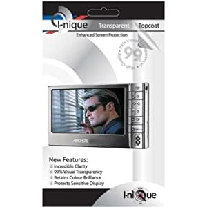 i-nique Topcoat Enhanced Crystal Clear Screen Protector Kit For Archos 605 wifi 5th Gen