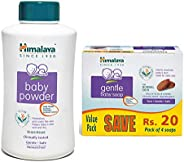 Himalaya Baby Powder, 700g and Gentle Soap Value Pack, 4 * 75g Combo