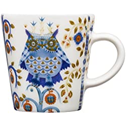 Iittala Taika 574949 - Taza de café expresso, 10 cl, diseño de búhos y flores, color azul, blanco y dorado