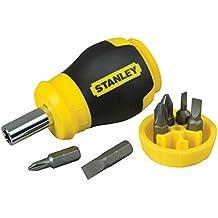 Stanley 0-66-357 - Destornillador multipuntas extracorto con 6 puntas
