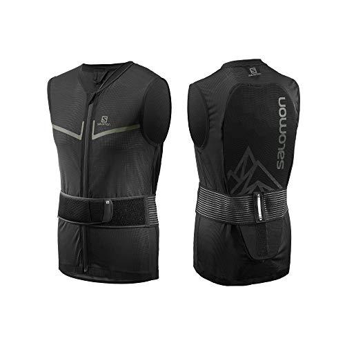 Salomon Herren Ski Rückenprotektor-Weste, Verstellbar, MotionFit, Atmungsaktiv, Flexcell Light Vest, Größe L,Schwarz, L40863500