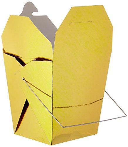 Darice 1143-15, 5 Stück, 26 Unzen, chinesische Take-Out kleine Nudelboxen, Gold