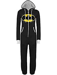Gr.S-XL Unisex Herren Damen Onesie Superman   Batman Hooded Zip Front  Jumpsuit, Superman   Batman Hoodie Hoody Sweatshirt… c01d44e565