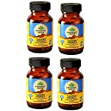 Organic India - Turmeric Formula 60 Count Capsules Pack Of 4 - With Free Two Tea Samples