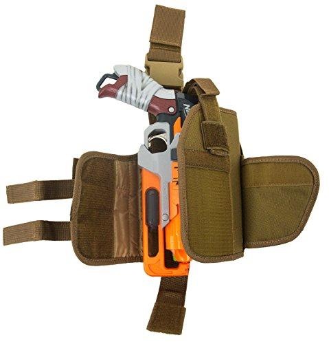 Blasterparts Multi Holster SX (links) - passend für Nerf Blaster wie Hammershot (coyote) -