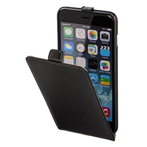 Hama Flip Case (für Apple iPhone 6 Plus (5,5 Zoll) Tasche, maßgefertigte Schutzhülle mit Magnetverschluss) schwarz (Iphone-sechs-plus-flap Case)