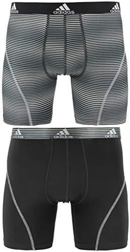 adidas Herren Sport Performance Climalite Graphic Boxer Brief (2-Pack) Unterwäsche Sundown Black/Grey, Medium - Brief 2-pack-unterwäsche
