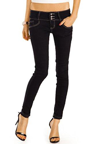 Bestyledberlin Damen Skinny Jeans, Slim Fit Röhrenjeans, enge Hüftjeans, Baumwoll Hosen j39f 38/M