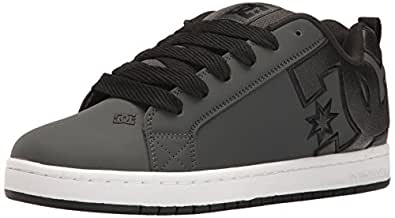 DC Men s Court Graffik SE Skate Shoe Grey/White 10 D(M) US