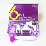 QJXF Six-In-One Roller Micro-Nadel 6In1 Titanlegierung Mikro-Nadel Gesichts Walze Beauty Micro-Nadel Hautpflege Sets
