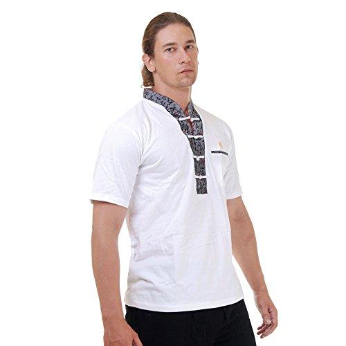 Kung-Fu,Tai-Chi & Meditations T-Shirt Baumwolle & Seide Weiß M L XL Weiß