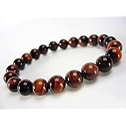Aeora : Red Tiger Eye bead bracelet,8mm bead bracelet for daily wear/office wear/party wear,Natural Gem/Semi Precious Stones Strand Bracelet for Men/Women/Boys/Girls. Fashion Healing Accesories