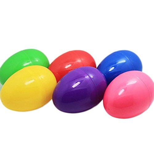 Wicemoon Lot de 6œufs de Pâques Plastique Décoration ouvertures torsadée Oeuf Coque DIY œufs de Pâques (couleur Ramdon)