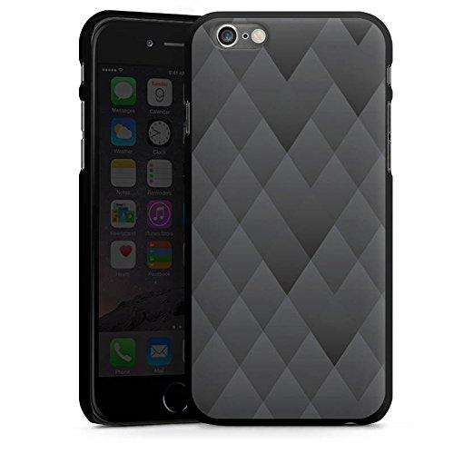 Apple iPhone 4 Housse Étui Silicone Coque Protection Anthracite Moderne Motif CasDur noir