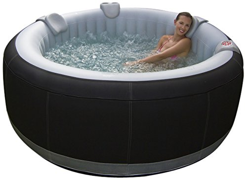 O'Spazia AS02 Spa gonflable rond luxe pour 4 personnes Noir 800 L