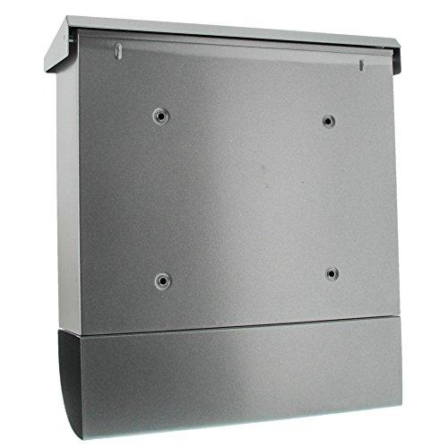 BURG-WÄCHTER, Briefkasten-Set mit Zeitungsbox A4 Einwurf-Format, Verzinkter Stahl, Set Vario Si, Silber - 2