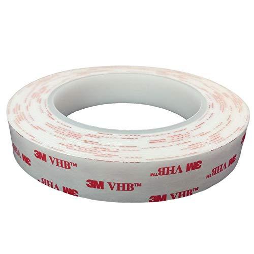 3M VHB 4950 doppelseitiges Klebeband - Hochleistungsklebeband - Montageklebeband - Industrie Tape im wiederverschliessbaren ZIP-Beutel - 20mm x 5 Meter. Für dauerhaft starke Verbindungen im Innen- und Außenbereich.
