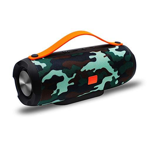 Kadinuoshangmao Tragbarer Bluetooth-Lautsprecher, lautere Lautstärke, kristallklarer Stereo-Sound, satter Bass, 100-Fuß-Reichweite, IPX5, Bluetooth-Lautsprecher (bunt)