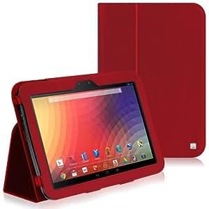 CaseCrown Bold Standby Étui (Rouge) pour Google Nexus 10 (réveille et redresse)