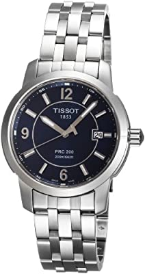 Tissot PRC 200 T0144101104700 - Reloj de caballero de cuarzo, correa de acero inoxidable color gris