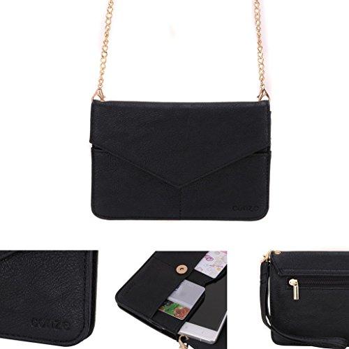 Conze da donna portafoglio tutto borsa con spallacci per Smart Phone per Gigabyte Gsmart Guru Gx/Mika MX/Roma RX/Rey R3 Grigio grigio nero