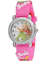 RUSTET Barbie Analogue Black Dial Round Girl's Watch