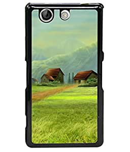 PrintVisa Beautiful House High Gloss Designer Back Case Cover for Sony Xperia Z4 Compact :: Sony Xperia Z4 Mini