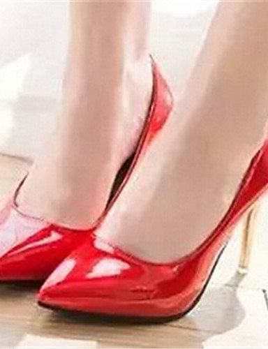 WSS 2016 Chaussures Femme-Habillé-Noir / Rose / Rouge / Blanc-Talon Aiguille-Bout Pointu-Talons-Similicuir 3in-3 3/4in-pink