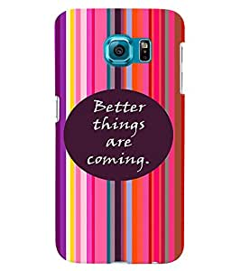 PrintVisa Quotes & Messages Strong Life 3D Hard Polycarbonate Designer Back Case Cover for Samsung Galaxy S6