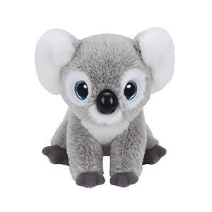 Koala Kookoo 90235 de Carletto Ty con ojos brillantes, Classic, 15 x 15 x 21 cm, Color Gris