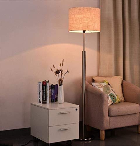Stehlampe Led-lampe 7 Watt Warmweißes Licht (Geschenk) Moderne Einfache Stoffbeschichtung Schmiedeeisen Kegel Stehlampe 1,63 Mt mit Zugschalter für Wohnzimmer Schlafzimmer Büro Nachtlesung