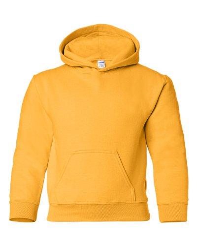 Gildan Heavy Blend Youth Hooded Sweatshirt, Gold, XL 50 Blend Youth Hooded Sweatshirt