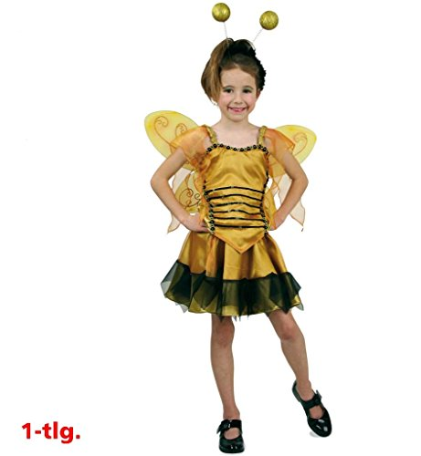 KarnevalsTeufel Kinderkostüm Chantal Bienenkostüm 2-TLG. Bienenkleid Biene Kostüm Bienenkönigin Elfe (140)