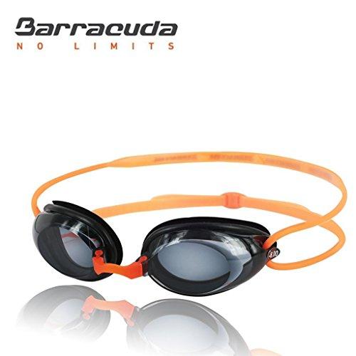 BARRACUDA Dr. B Optische Schwimmbrille Goggles Kurzsichtigkeit Absolvent Mount Aerodynamik Fugenkelle von Silikon Anti Fog UV anti-rotura bequemer Wettbewerb Unisex Erwachsene Optical # 2195Orange