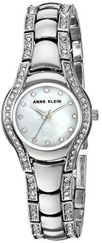 Anne Klein para Mujer AK/2885mpsv Swarovski Crystal Acentos en Silver-Tone Reloj de Pulsera