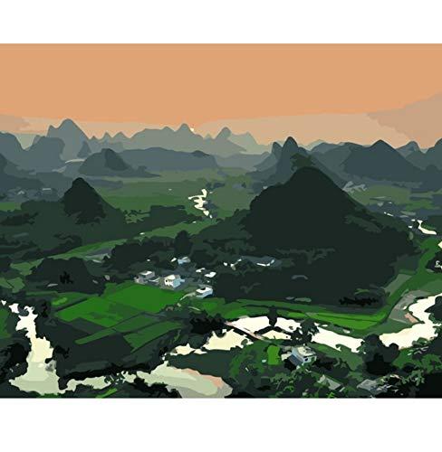 Puzzles De 1000 Piezas Para Adultos 3D Bricolaje Decoración Del Hogar Arte Verde Tierras De Cultivo Colinas Paisaje Fotos Montaje Personalizado De Madera Jigsaw Puzzles Divertido